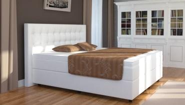 boxspringbett in wei. Black Bedroom Furniture Sets. Home Design Ideas