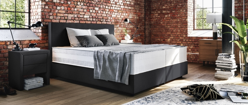 boxspringbetten polsterbetten unterschiede uberblick. Black Bedroom Furniture Sets. Home Design Ideas