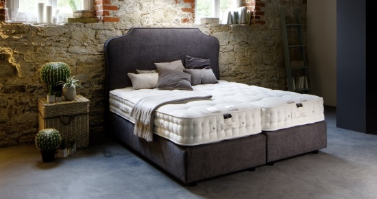 premium boxspringbett elise mit sattler naturmatratze. Black Bedroom Furniture Sets. Home Design Ideas