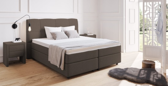 boxspringbett mit kopfteil kaufen boxspring welt. Black Bedroom Furniture Sets. Home Design Ideas