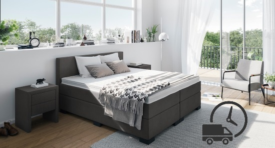 boxspringbett sofort lierferbar boxspring welt. Black Bedroom Furniture Sets. Home Design Ideas