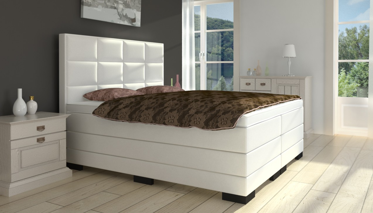 boxspringbett mit hohem kopfteil boxspring welt. Black Bedroom Furniture Sets. Home Design Ideas