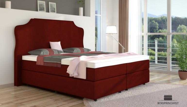 Boxspringbett Marie 140 x 210 cm in Rot