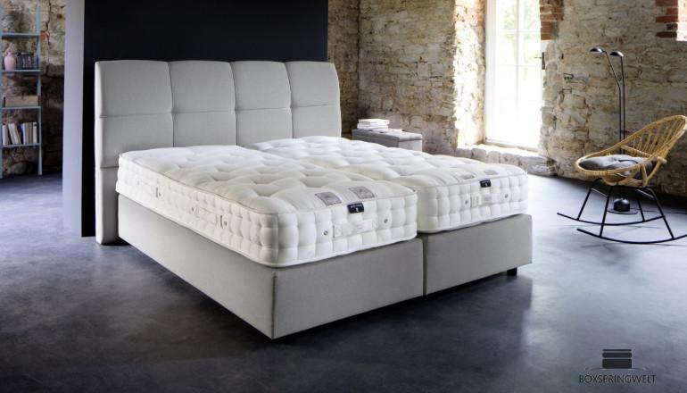 Luxus Boxspringbett in Farbe Grau