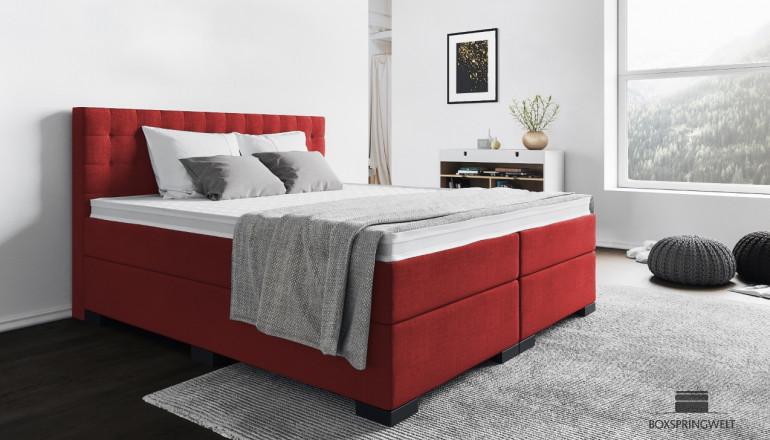 Boxspringbett Frieda 180 x 200 cm in Rot