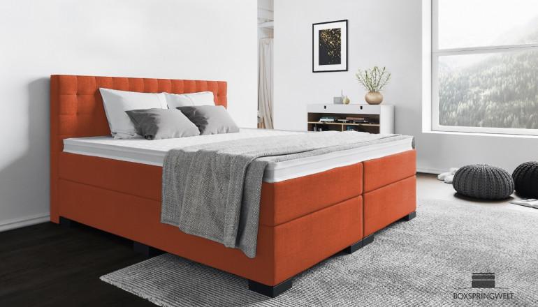 Boxspringbett Frieda 180 x 200 cm in Orange