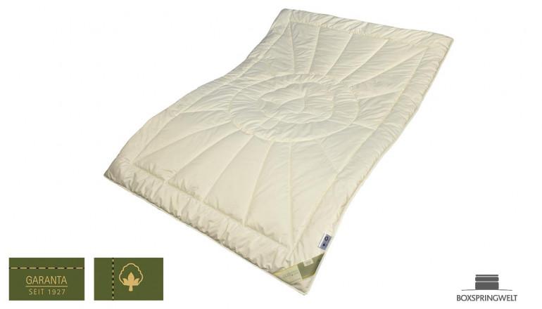 Leichte Bettdecke aus Bio Baumwolle, Wärmeklasse 2