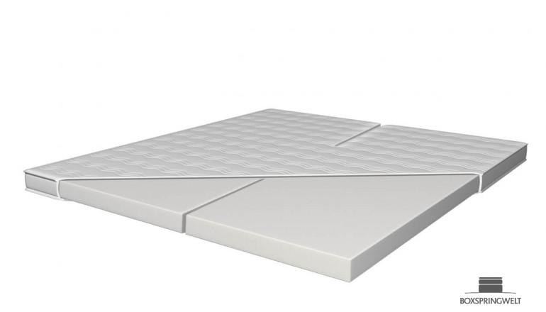 Splittopper aus Kaltschaum HR 45 180 x 220 cm für verstellbare Doppelbetten