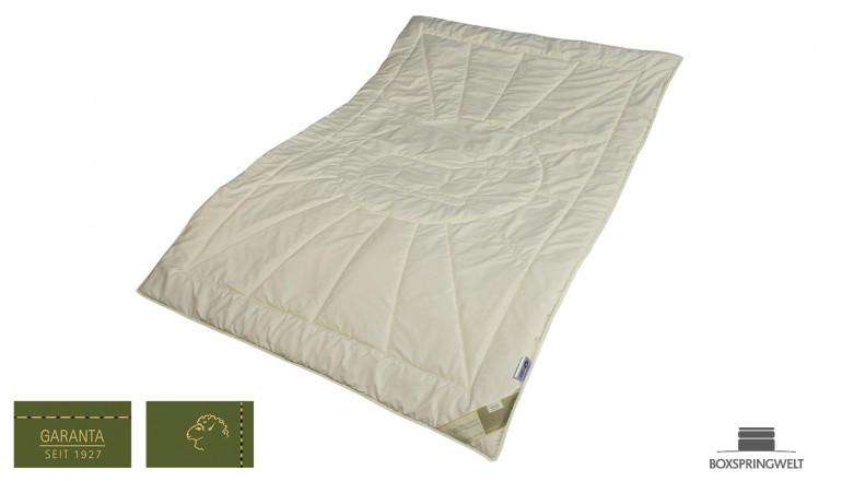 Leichte Bettdecke aus Bio Schurwolle, Wärmeklasse 2