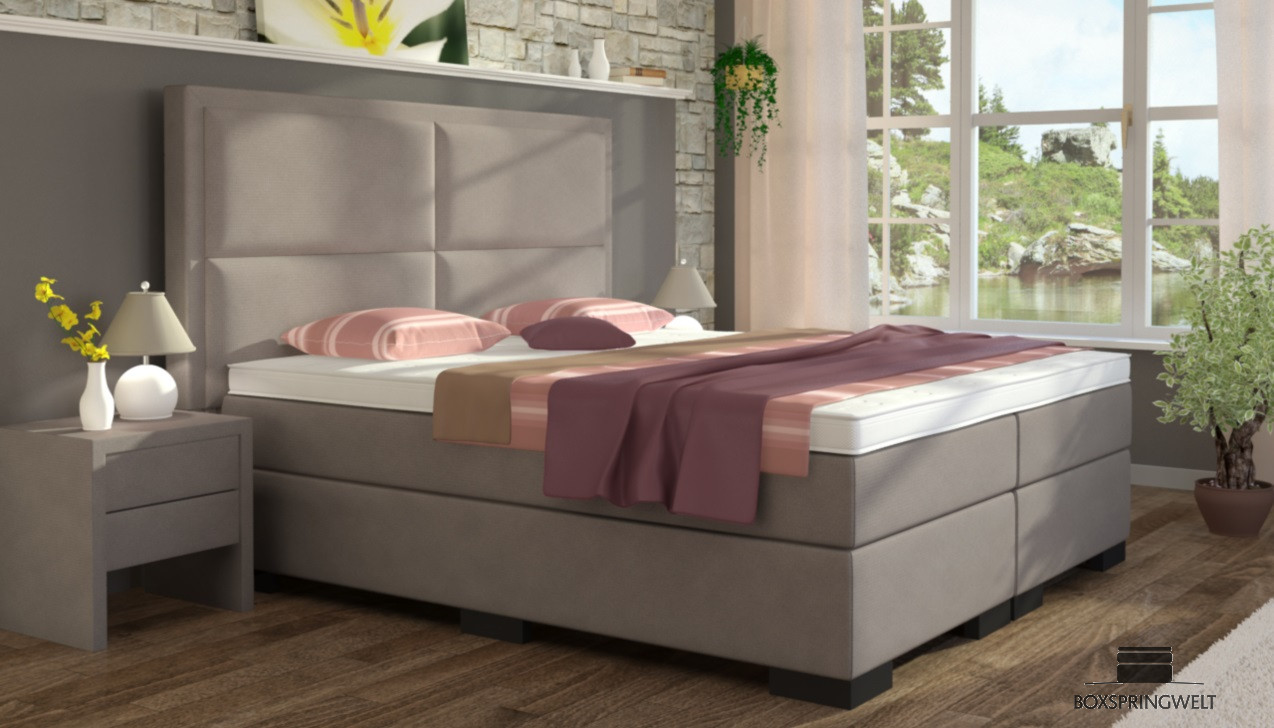 boxspringbett otto 200 x 220 cm boxspring welt. Black Bedroom Furniture Sets. Home Design Ideas