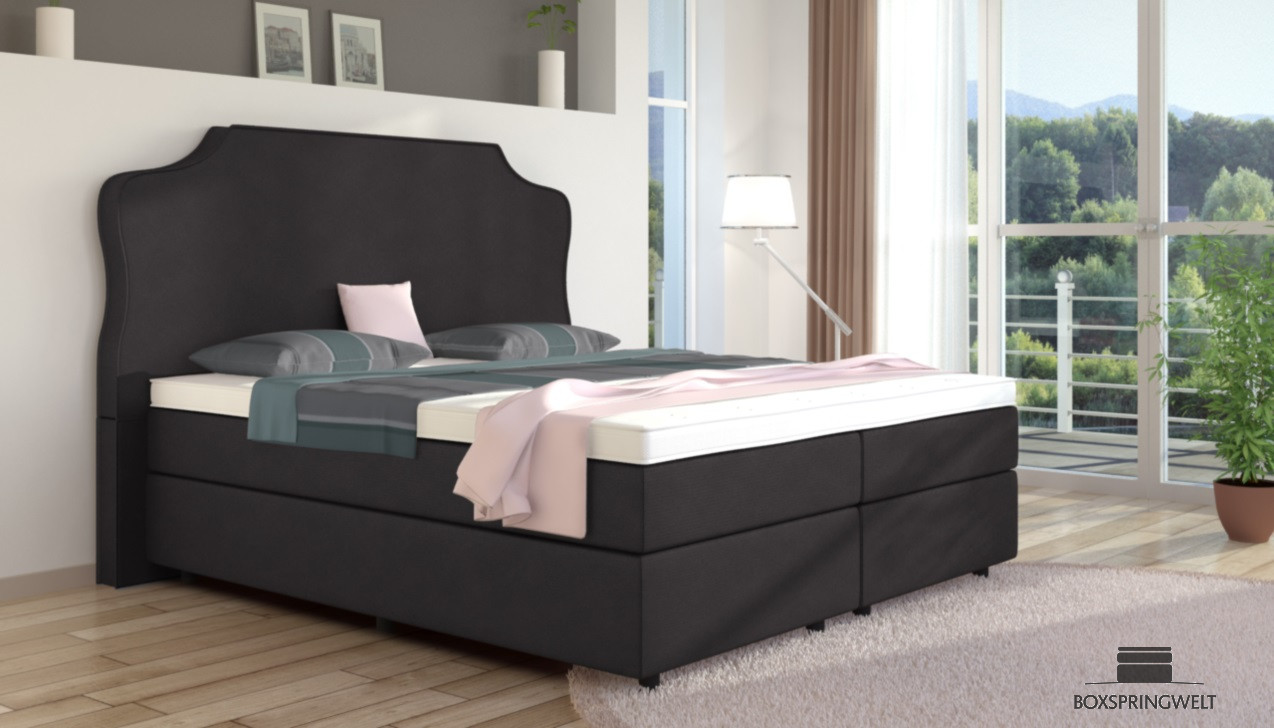 boxspringbett marie 180 x 200 cm boxspring welt. Black Bedroom Furniture Sets. Home Design Ideas