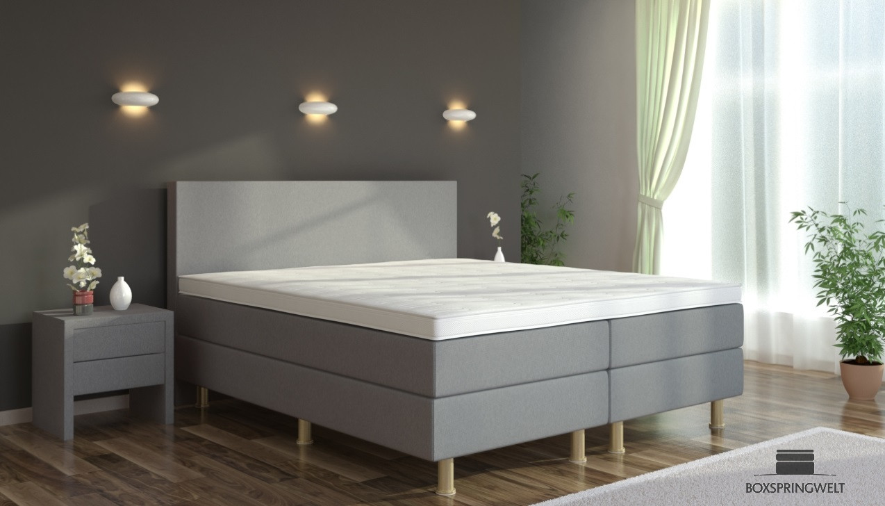 boxspringbett eva 200 x 200 cm boxspring welt. Black Bedroom Furniture Sets. Home Design Ideas