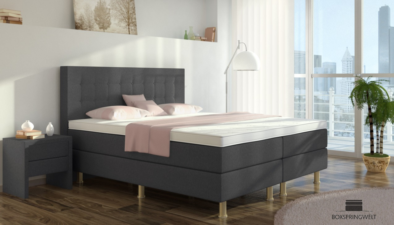 boxspringbett sofie 200 x 200 cm boxspring welt. Black Bedroom Furniture Sets. Home Design Ideas