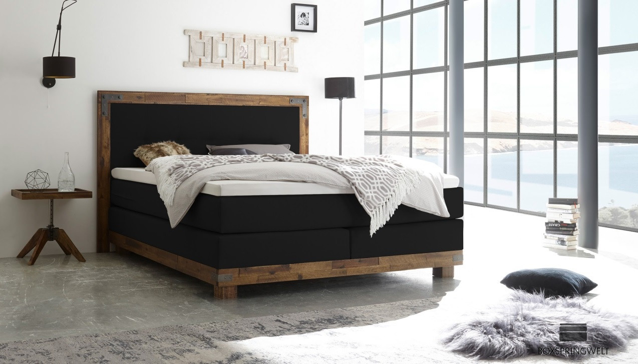 boxspringbett hasena 140 x 200 cm boxspring welt. Black Bedroom Furniture Sets. Home Design Ideas
