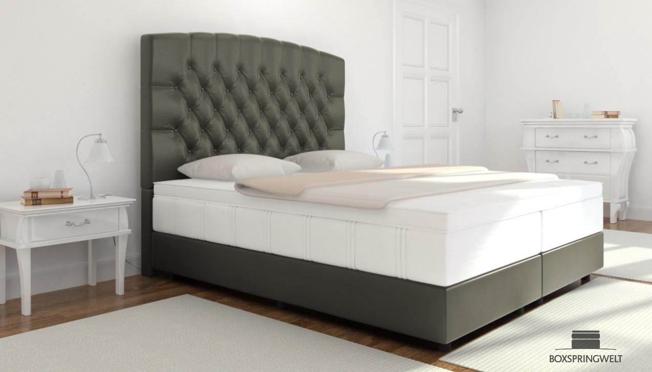 boxspringbett elisabeth 160 x 200 cm boxspring welt. Black Bedroom Furniture Sets. Home Design Ideas