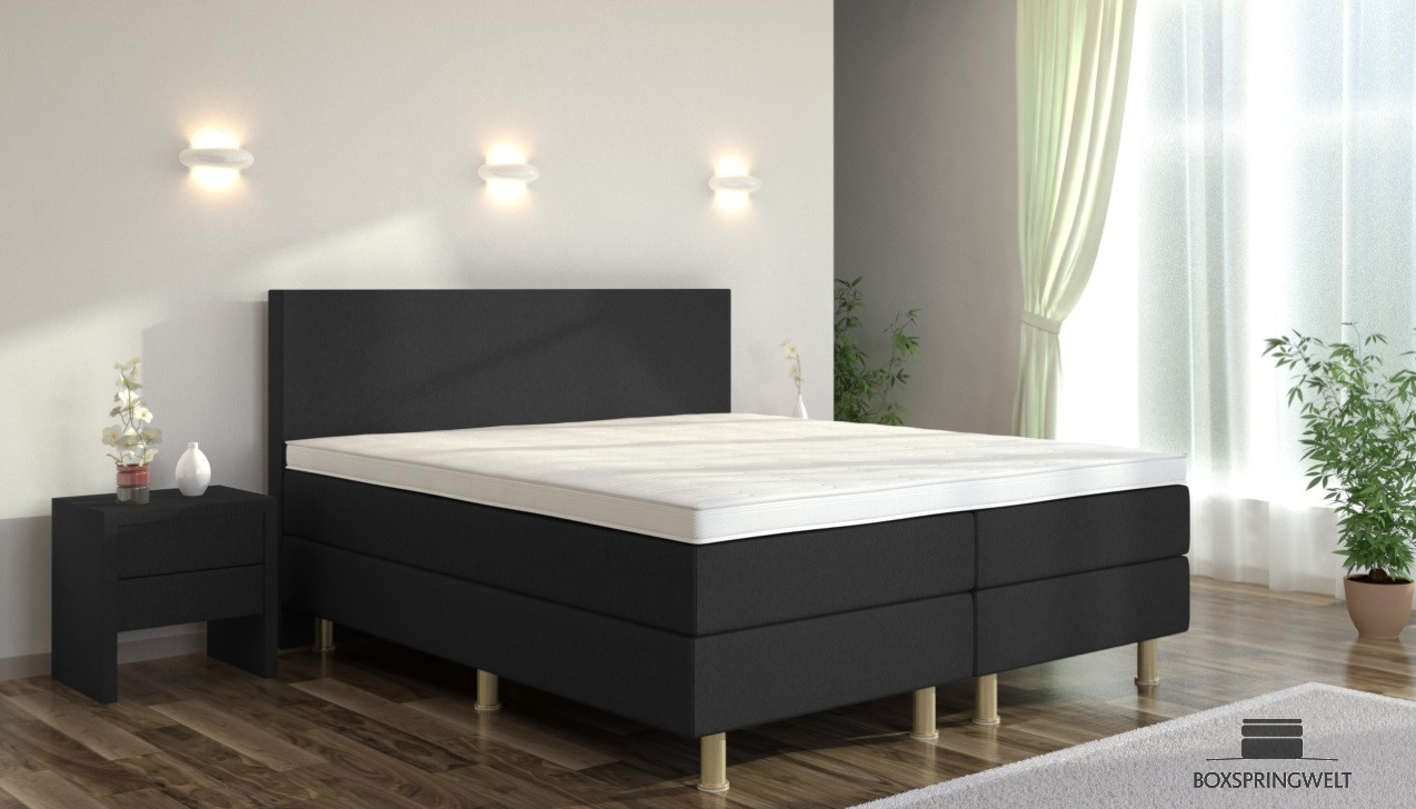 boxspringbett eva 160 x 200 cm boxspring welt. Black Bedroom Furniture Sets. Home Design Ideas