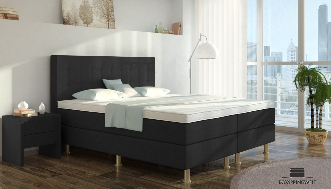 boxspringbett sofie 160 x 220 cm boxspring welt. Black Bedroom Furniture Sets. Home Design Ideas