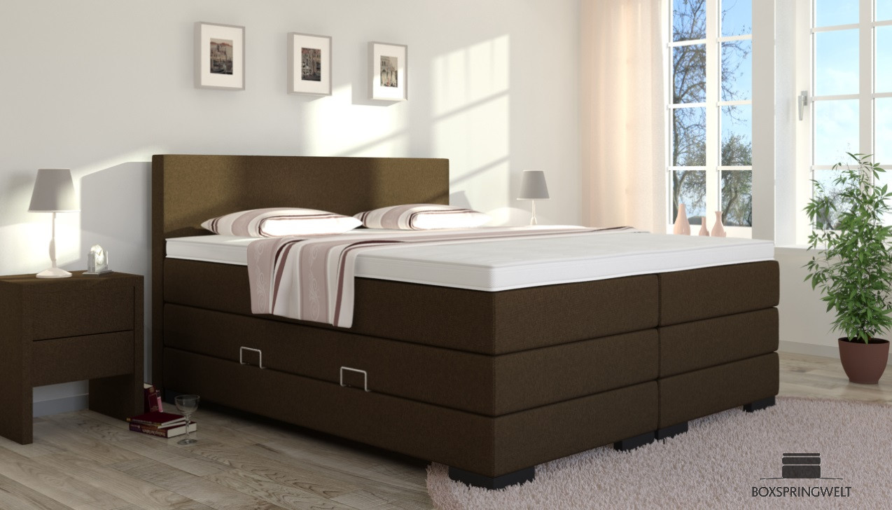 boxspringbett mit bettkasten winston 180 x 200 cm. Black Bedroom Furniture Sets. Home Design Ideas