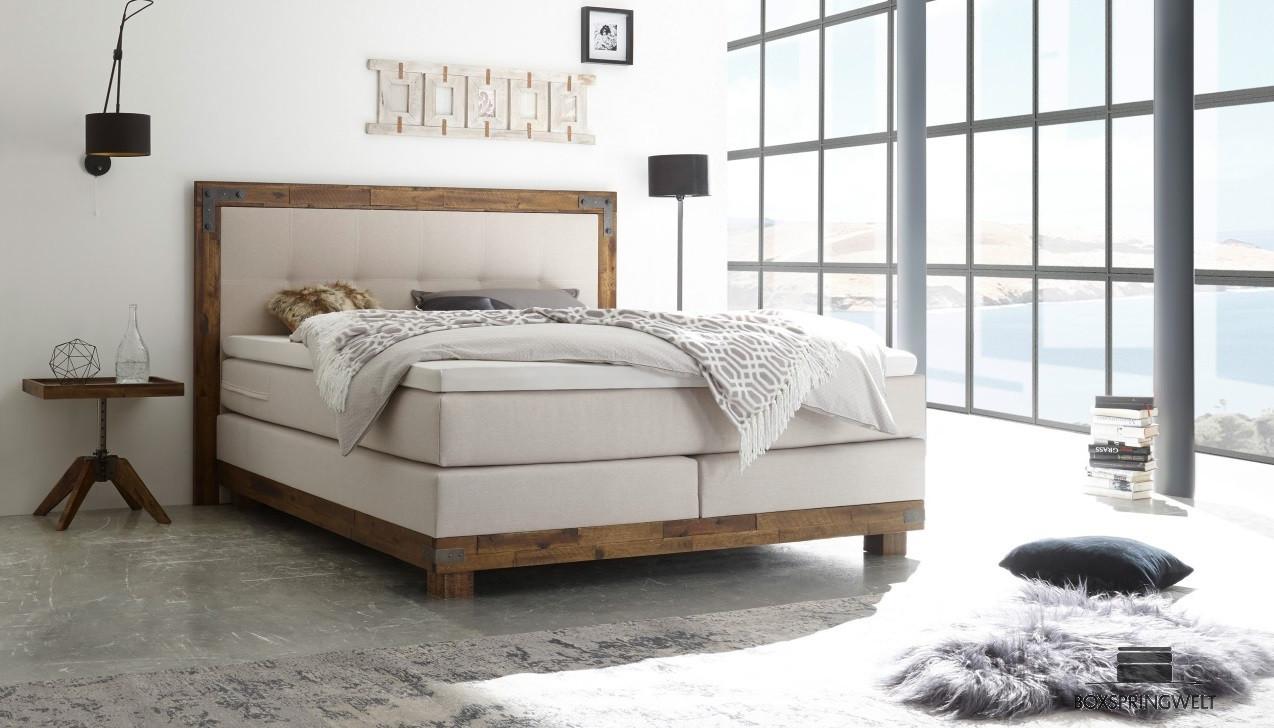 boxspringbett hasena 180 x 200 cm boxspring welt. Black Bedroom Furniture Sets. Home Design Ideas