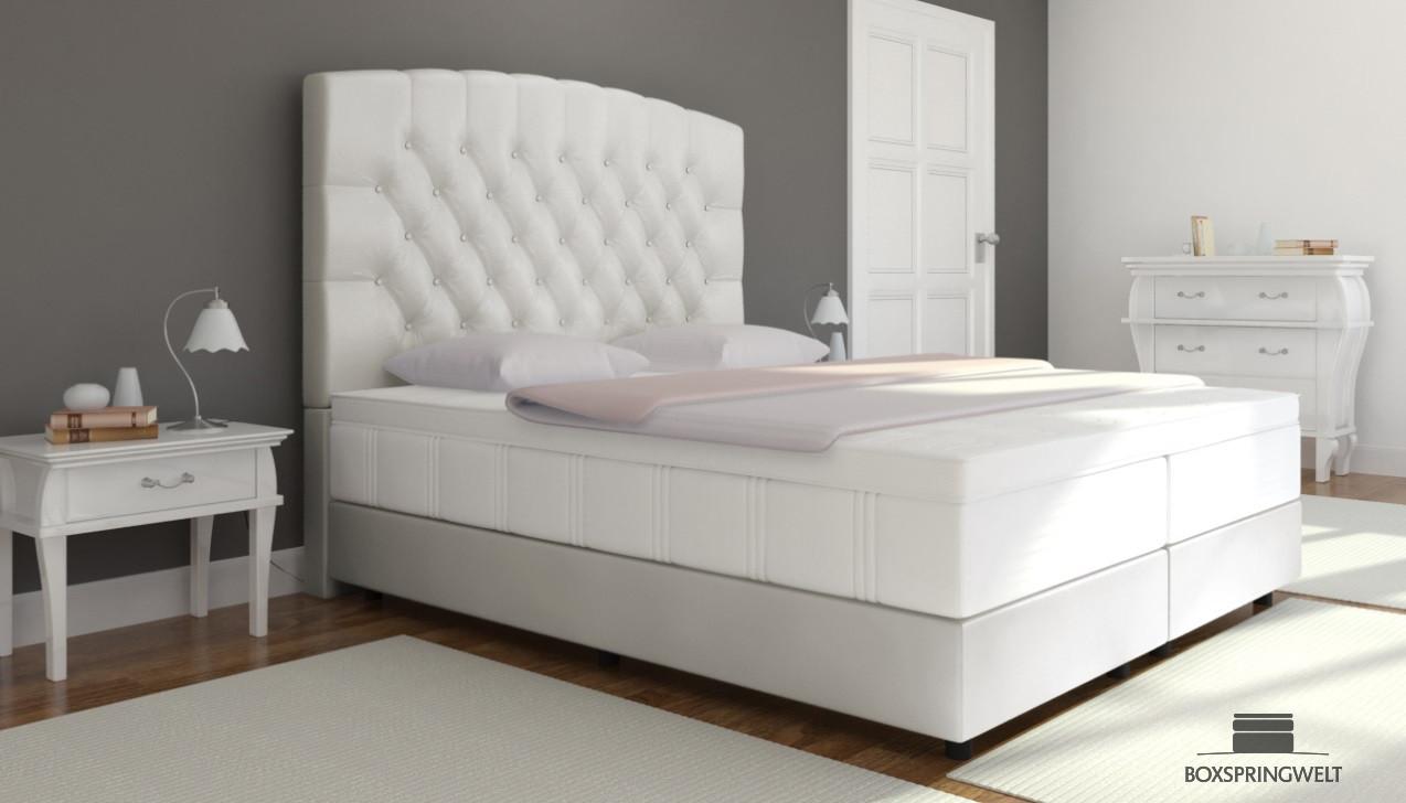 boxspringbett elisabeth 200 x 200 cm boxspring welt. Black Bedroom Furniture Sets. Home Design Ideas