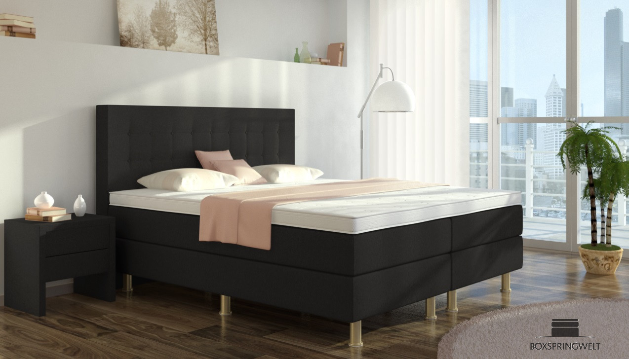 boxspringbett sofie 90 x 200 cm boxspring welt. Black Bedroom Furniture Sets. Home Design Ideas