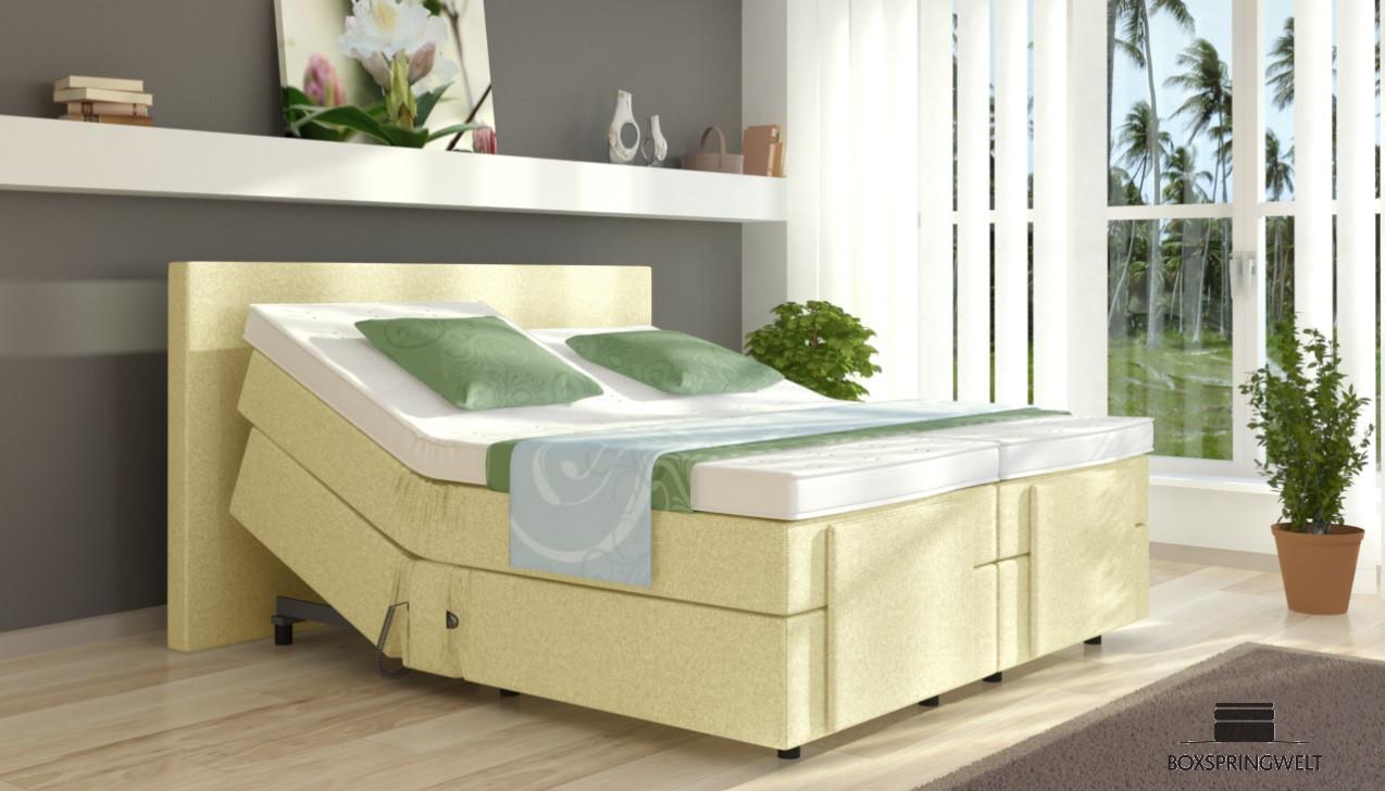 elektrisches boxspringbett henry 140 x 200 cm. Black Bedroom Furniture Sets. Home Design Ideas