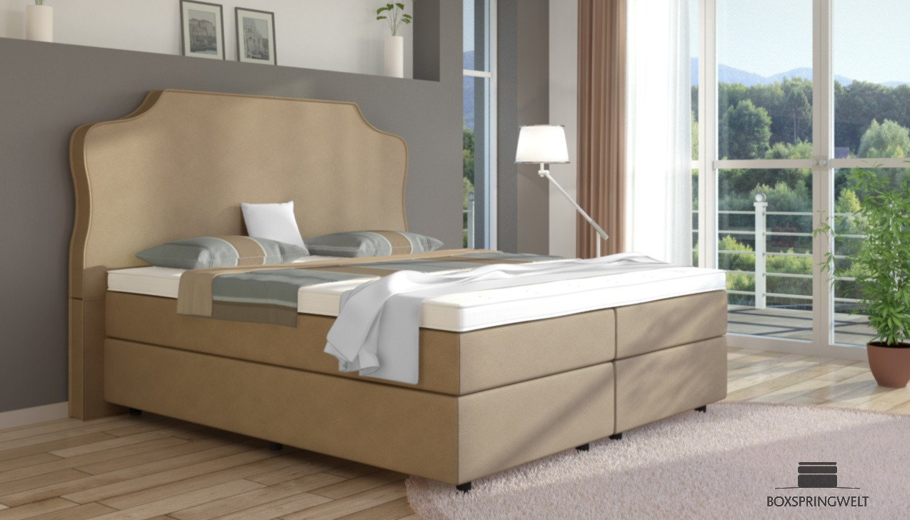 boxspringbett marie 140 x 200 cm boxspring welt. Black Bedroom Furniture Sets. Home Design Ideas