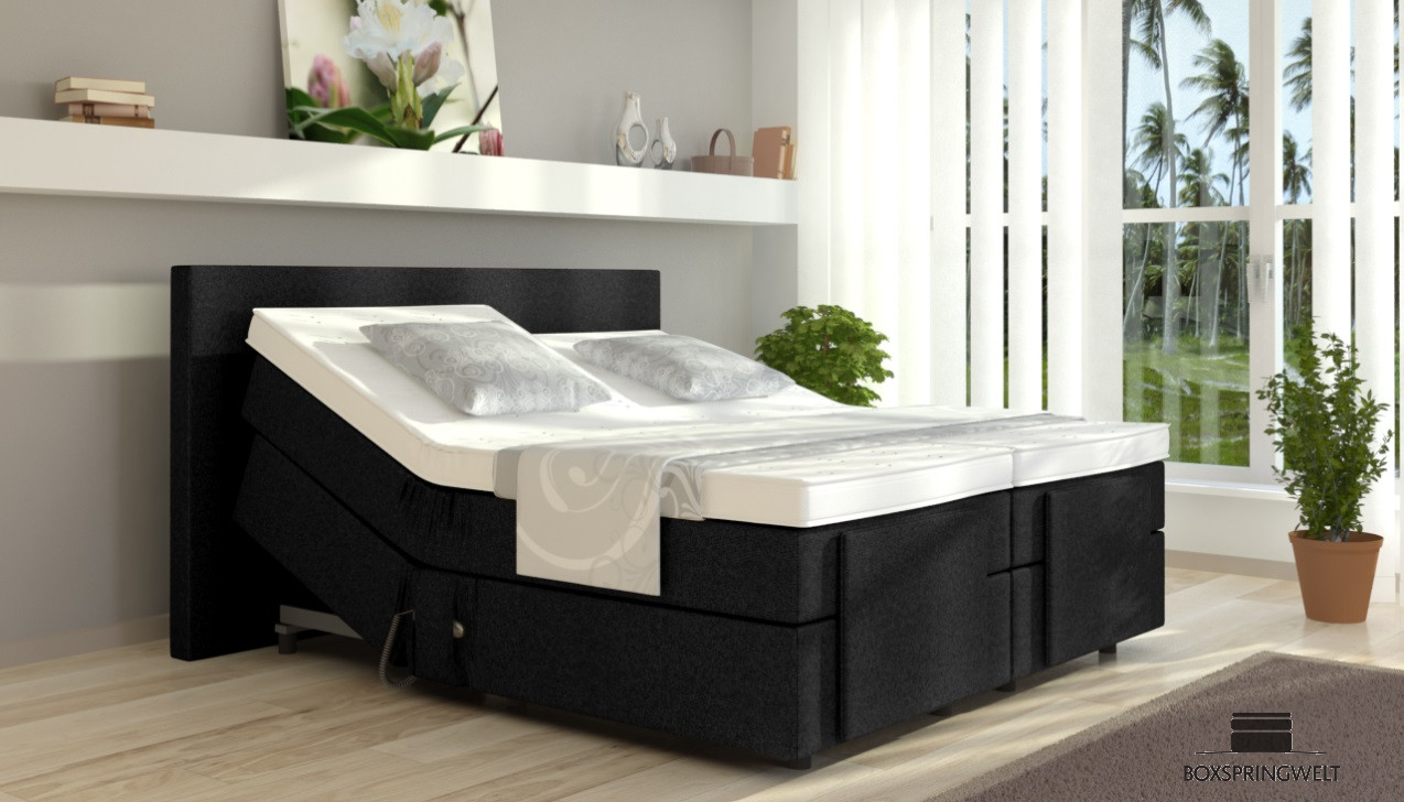 elektrisches boxspringbett henry 140 x 200 cm. Black Bedroom Furniture Sets. Home Design Ideas