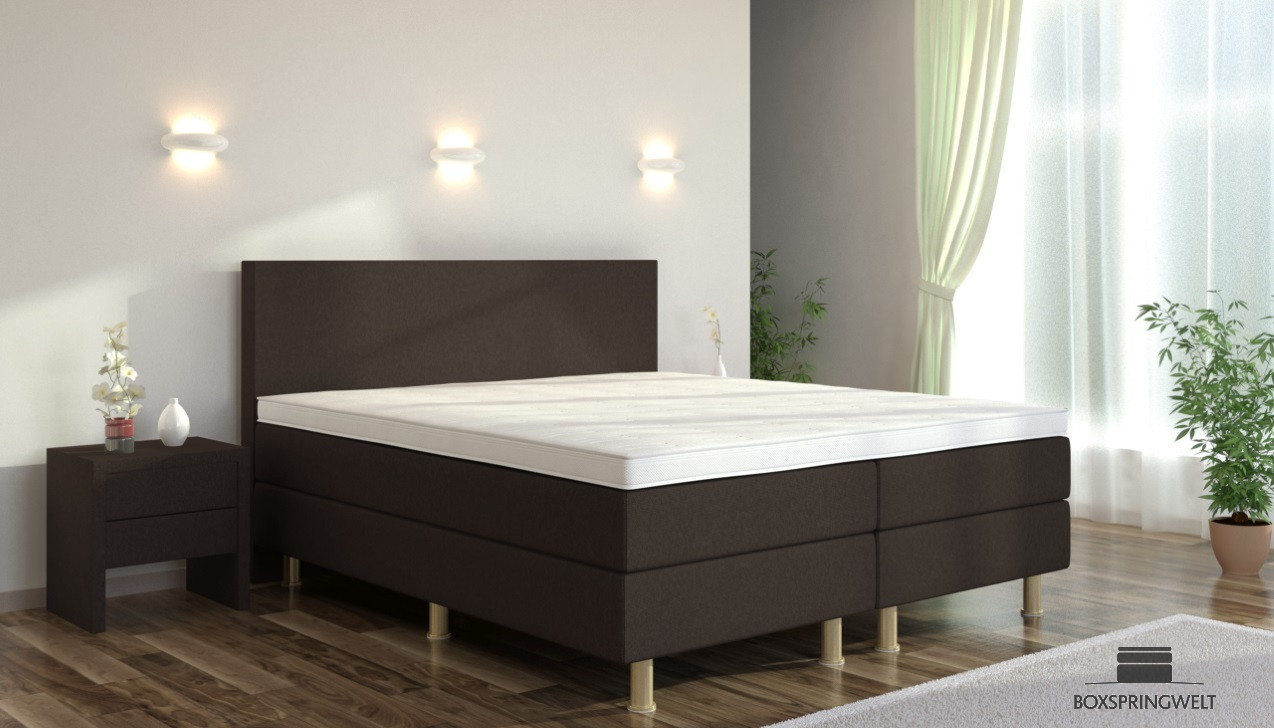 boxspringbett eva 200 x 220 cm boxspring welt. Black Bedroom Furniture Sets. Home Design Ideas