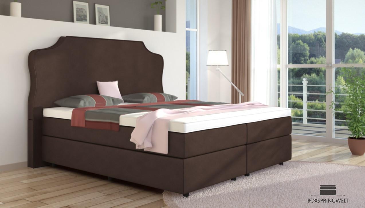 boxspringbett marie 140 x 200 cm boxspring welt. Black Bedroom Furniture Sets. Home Design Ideas