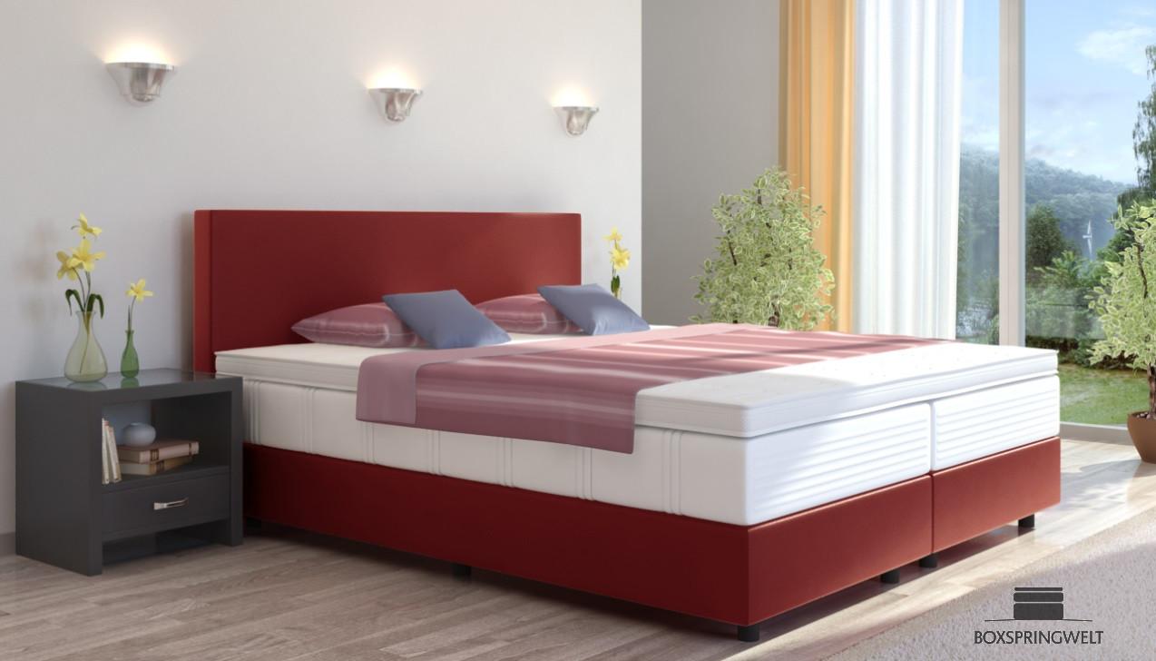 boxspringbett emil in kunstleder 80 x 210 cm. Black Bedroom Furniture Sets. Home Design Ideas
