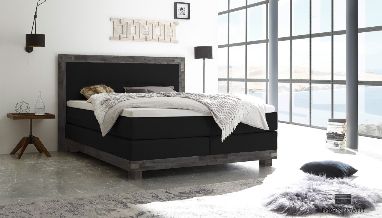 boxspringbett hasena 160 x 200 cm boxspring welt. Black Bedroom Furniture Sets. Home Design Ideas