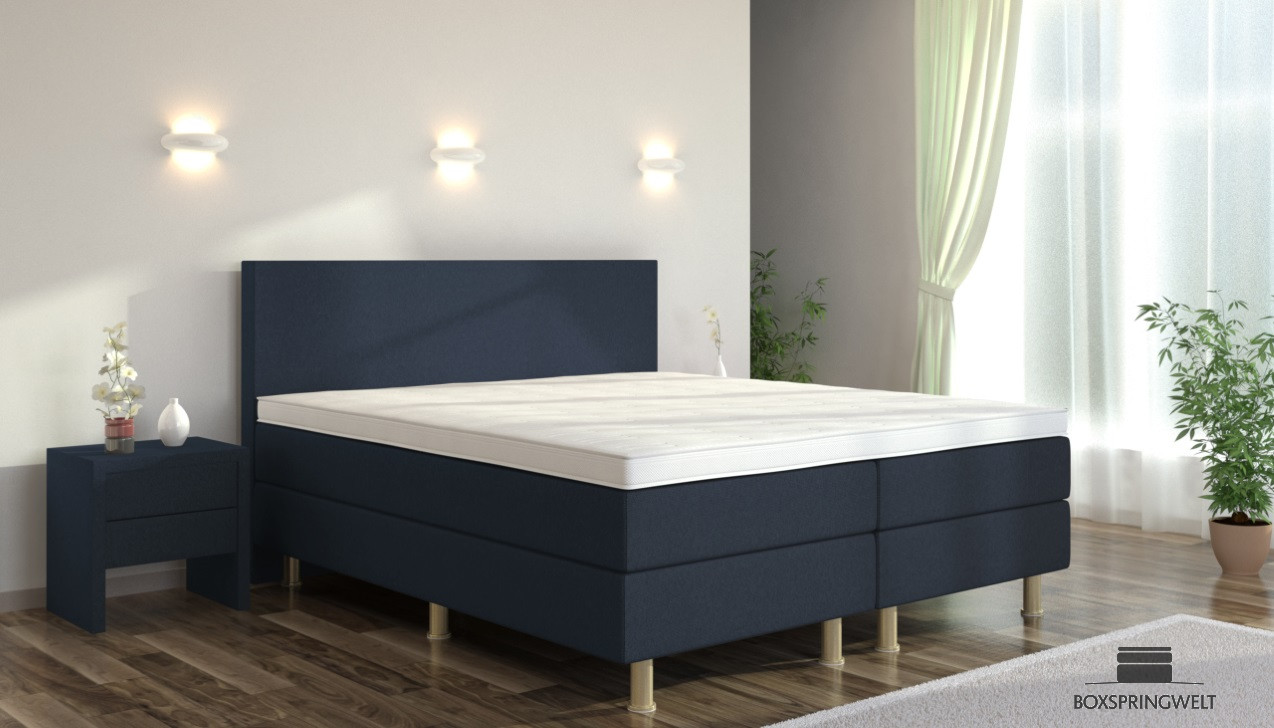 boxspringbett eva 120 x 220 cm boxspring welt. Black Bedroom Furniture Sets. Home Design Ideas