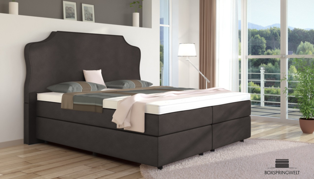 boxspringbett marie 200 x 200 cm boxspring welt. Black Bedroom Furniture Sets. Home Design Ideas