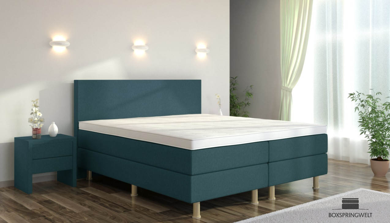 boxspringbett eva 200 x 200 cm boxspring welt. Black Bedroom Furniture Sets. Home Design Ideas