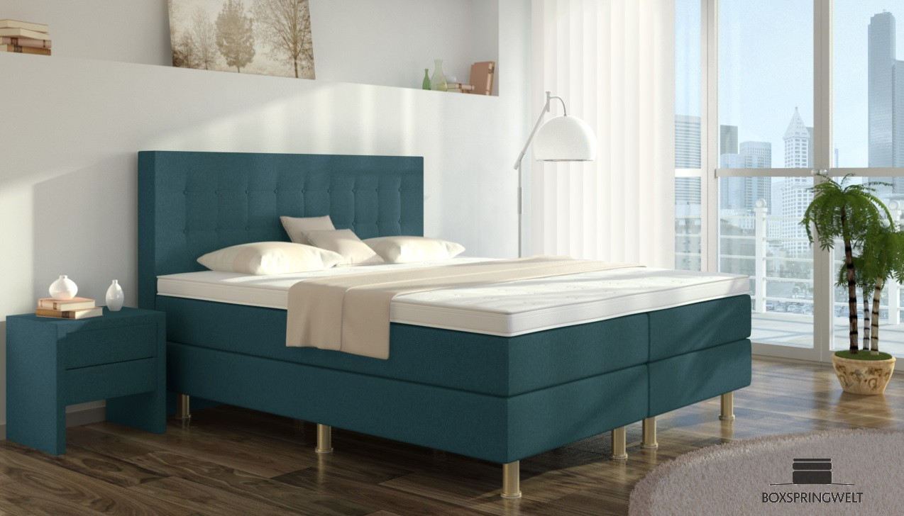 boxspringbett sofie 100 x 200 cm boxspring welt. Black Bedroom Furniture Sets. Home Design Ideas