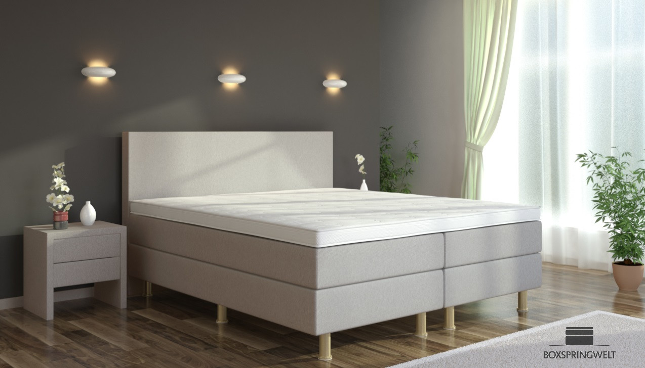 boxspringbett eva 140 x 200 cm boxspring welt. Black Bedroom Furniture Sets. Home Design Ideas