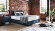 Boxspringbett Oskar 100 x 200 cm in Mine Denim
