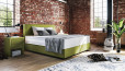 Boxspringbett Oskar 90 x 220 cm in Mine Lime