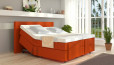 Boxspringbett Henry 100 x 210 cm mit Motor in Orange