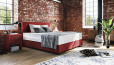 Boxspringbett Oskar 100 x 200 cm in Mine Burgundy