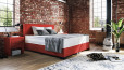 Boxspringbett Oskar 140 x 210 cm in Crush Rot
