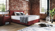 Boxspringbett Oskar 80 x 210 cm in Crush Weinrot
