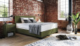 Boxspringbett Oskar 100 x 200 cm in Crush Olive