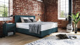 Boxspringbett Oskar 80 x 210 cm in Crush Petrol