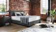 Boxspringbett Oskar 180 x 210 cm in Crush Grau