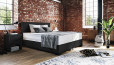 Boxspringbett Oskar 90 x 220 cm in Crush Onyx