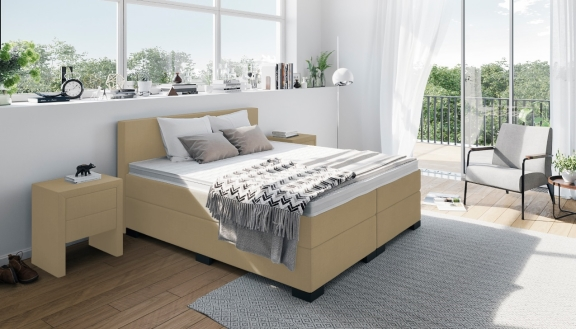 beige boxspringbetten die sch nsten betten in beige. Black Bedroom Furniture Sets. Home Design Ideas