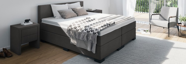 Boxspringbett in 3 Härtegraden