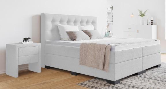 wei es boxspringbett die sch nsten betten in wei. Black Bedroom Furniture Sets. Home Design Ideas